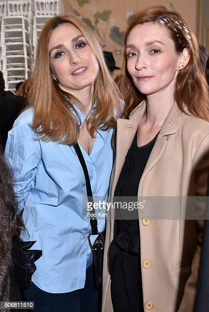 Audrey Marney and Julie Gayet attend the Alexis Mabille Spring Summer 2016 show as part of Paris Fashion Week on January 25 2016 in Paris France