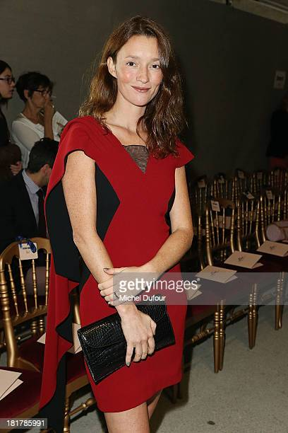 Audrey Marney attends the Alexis Mabille show as part of the Paris Fashion Week Womenswear Spring/Summer 2014 on September 25 2013 in Paris France