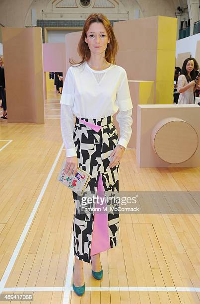 Audrey Marney attends the Roksanda show during London Fashion Week SS16 on September 21 2015 in London England