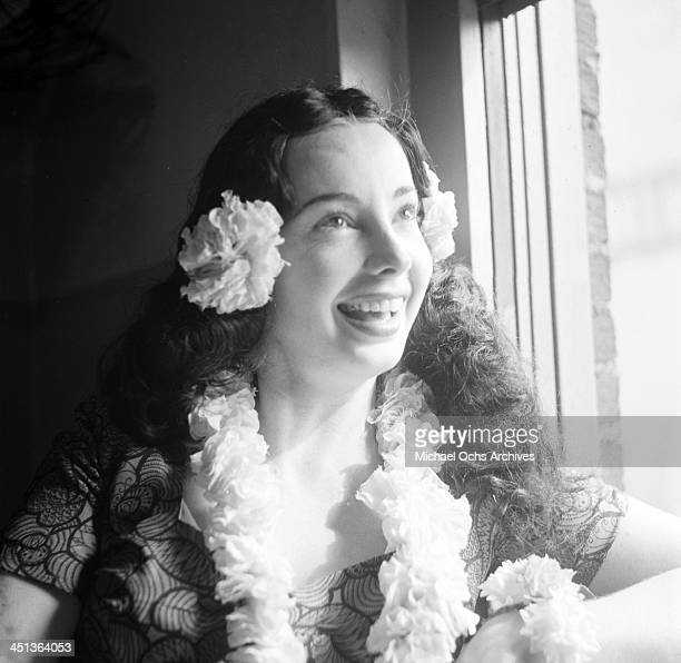 Audrey Meadows poses during rehearsal of the 'The Jackie Gleason Show' in Los Angeles California