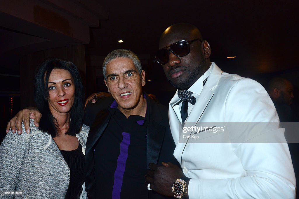 Audrey Naceri, Samy Naceri and fashion designer Omar Bounamin attend the 'OmarJeans' Launch Party At The Pavillon Champs Elysees on March 31, 2013 in Paris, France.