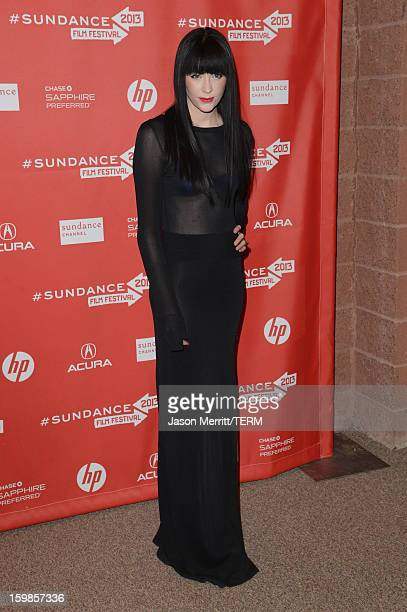 Audrey Napoleon attends 'The Necessary Death Of Charlie Countryman' premiere at Eccles Center Theatre during the 2013 Sundance Film Festival on...