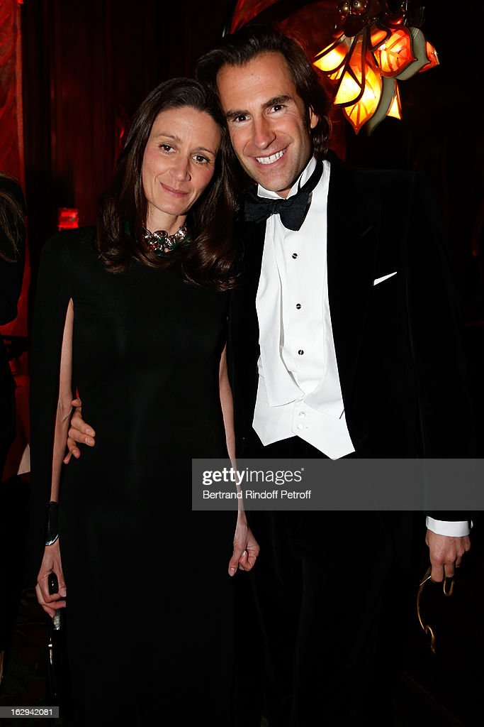 Audrey Pelegry and Pierre Pelegry attend Pierre Pelegry's birthday party at Maxim's on March 1, 2013 in Paris, France.