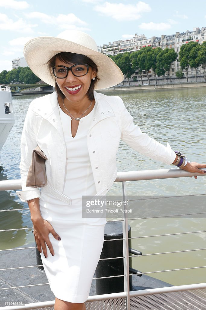 Audrey Pulvar attends 'Brunch Blanc' hosted by Groupe Barriere for Sodexho with a cruise in Paris on June 30, 2013, France.