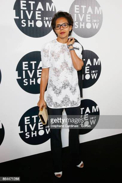 Audrey Pulvar attends the Etam show as part of the Paris Fashion Week Womenswear Spring/Summer 2018 at on September 26 2017 in Paris France