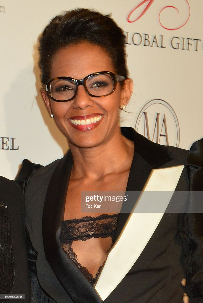 Audrey Pulvar attends the Eva Longoria Presents 'Global Gift Gala' 2013 - Photocall at the Hotel Four Season GeorgesV on May 13, 2013 in Paris, France.