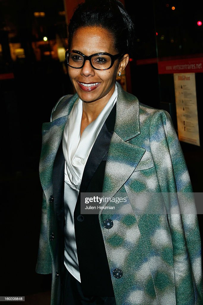 Audrey Pulvar attends the 'Mariage Pour Tous' (wedding for all) Party event at Theatre du Rond-Point on January 27, 2013 in Paris, France.