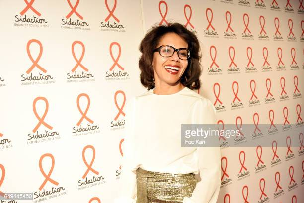 Audrey Pulvar attends the Sidaction 2017 Launch Party Photocall at Musee Branly on March 07 2017 in Paris France