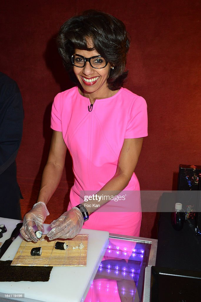 Audrey Pulvar attends the Sushi Shop's Box Endorsed By Kate Moss Launch At La Nouvelle Eve Cabaret on March19, 2013 in Paris, France.