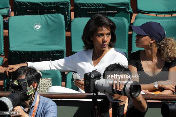 Audrey Pulvar is spotted at Roland Garros on June 8 2017 in Paris France