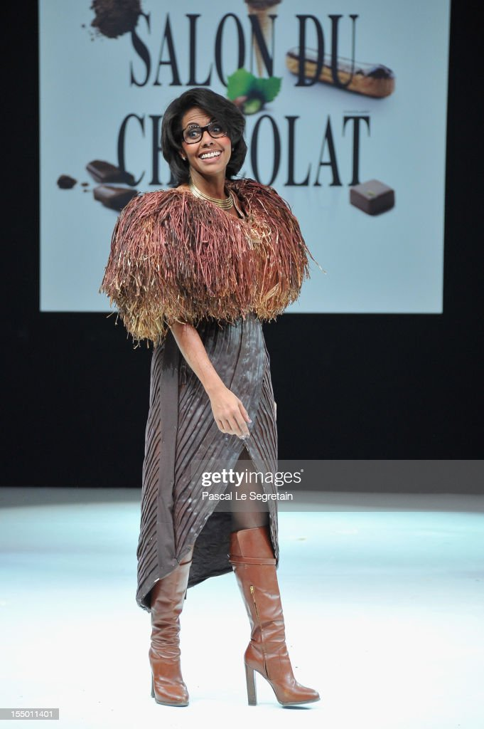 Audrey Pulvar walks down the runway during the 18th Salon Du Chocolat at Parc des Expositions Porte de Versailles on October 30, 2012 in Paris, France.