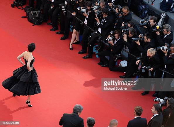 Audrey Tautou arrives at 'Venus In Fur' Premiere during the 66th Annual Cannes Film Festival at Grand Theatre Lumiere on May 25 2013 in Cannes France
