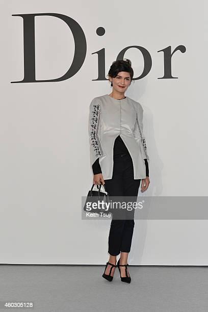 Audrey Tautou attends 'Esprit Dior' Tokyo 2015 Fashion Show at Ryogoku Kokugikan on December 11 2014 in Tokyo Japan