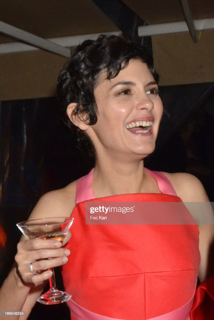 <a gi-track='captionPersonalityLinkClicked' href=/galleries/search?phrase=Audrey+Tautou&family=editorial&specificpeople=212727 ng-click='$event.stopPropagation()'>Audrey Tautou</a> attends La Vie D'Adele Palme d'Or Party At The Magnum Cannes Plage - The 66th Annual Cannes Film Festival on May 26, 2013 in Cannes, France.
