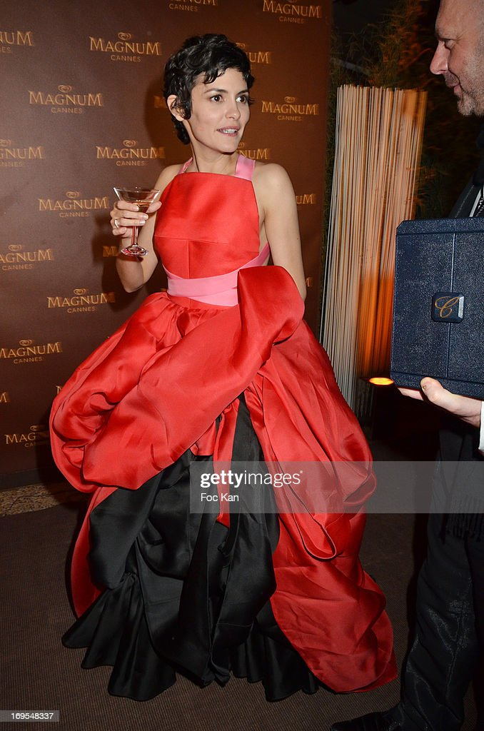 Audrey Tautou attends La Vie D'Adele Palme d'Or Party At The Magnum Cannes Plage - The 66th Annual Cannes Film Festival on May 26, 2013 in Cannes, France.