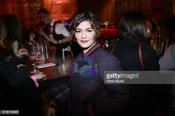 Audrey Tautou attends Prom 2016 Party hosted by Coach for the Paris Flagship opening as part of the Paris Fashion Week Womenswear Fall/Winter...