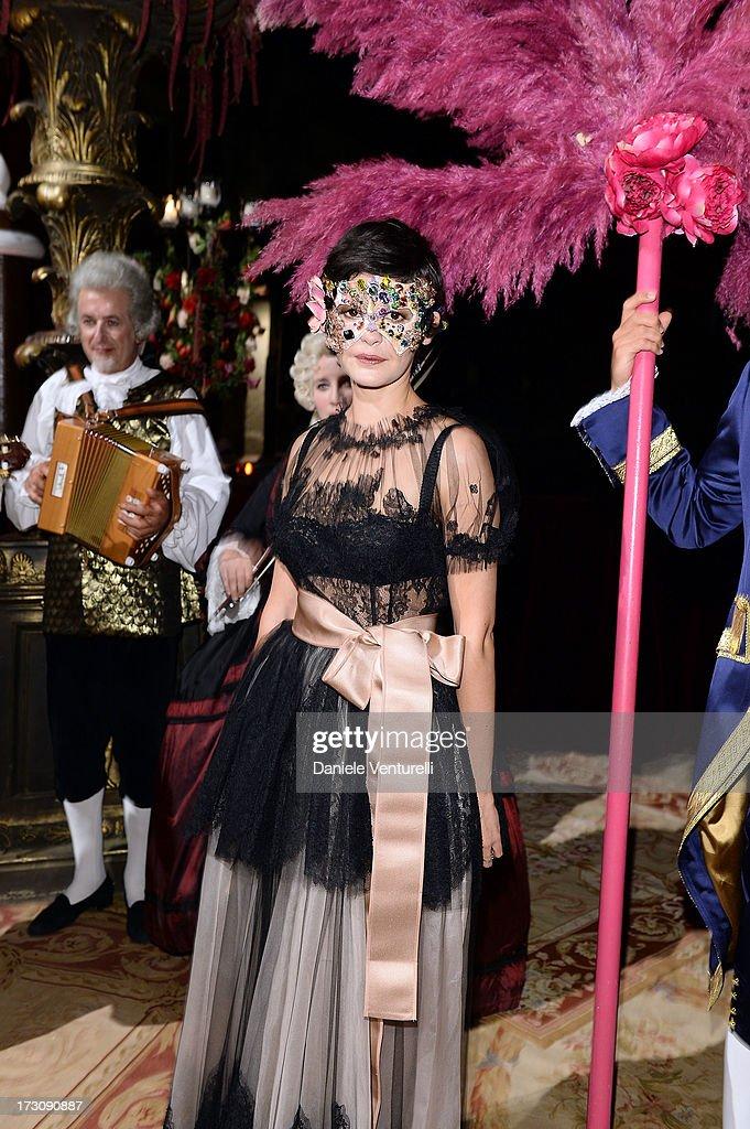 Audrey Tautou attends the 'Ballo in Maschera' to Celebrate Dolce&Gabbana Alta Moda at Palazzo Pisani Moretta on July 6, 2013 in Venice, Italy.