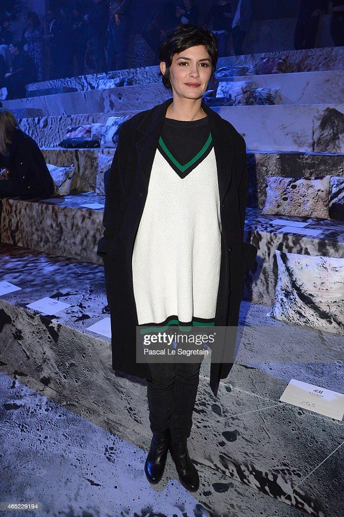 H&M : Front Row - Paris Fashion Week Womenswear Fall/Winter 2015/2016