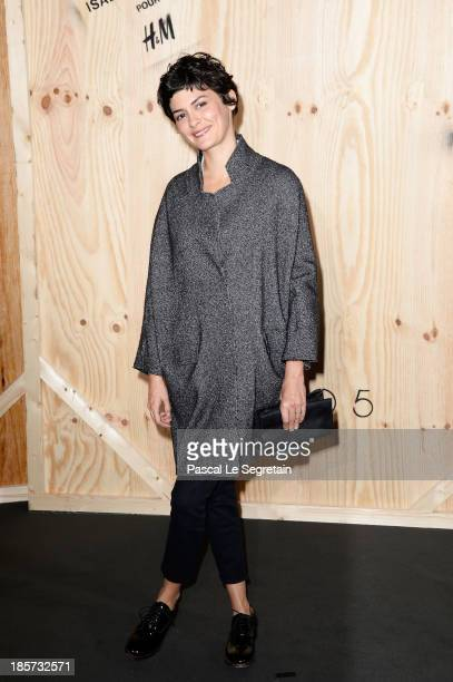 Audrey Tautou attends the 'Isabel Marant For HM' Photocall at Tennis Club De Paris on October 24 2013 in Paris France
