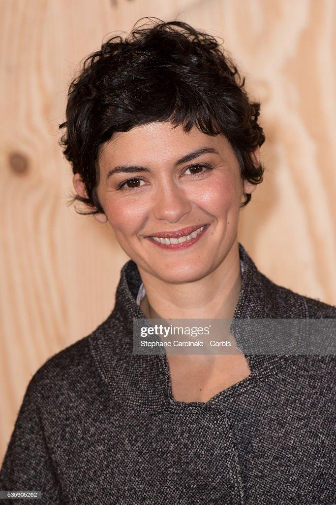 Audrey Tautou attends the 'Isabel Marant For H&M' Photocall at Tennis Club De Paris, in Paris.