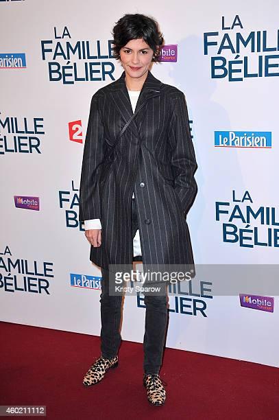 Audrey Tautou attends the 'La Famille Belier' Paris Premiere at Le Grand Rex on December 9 2014 in Paris France