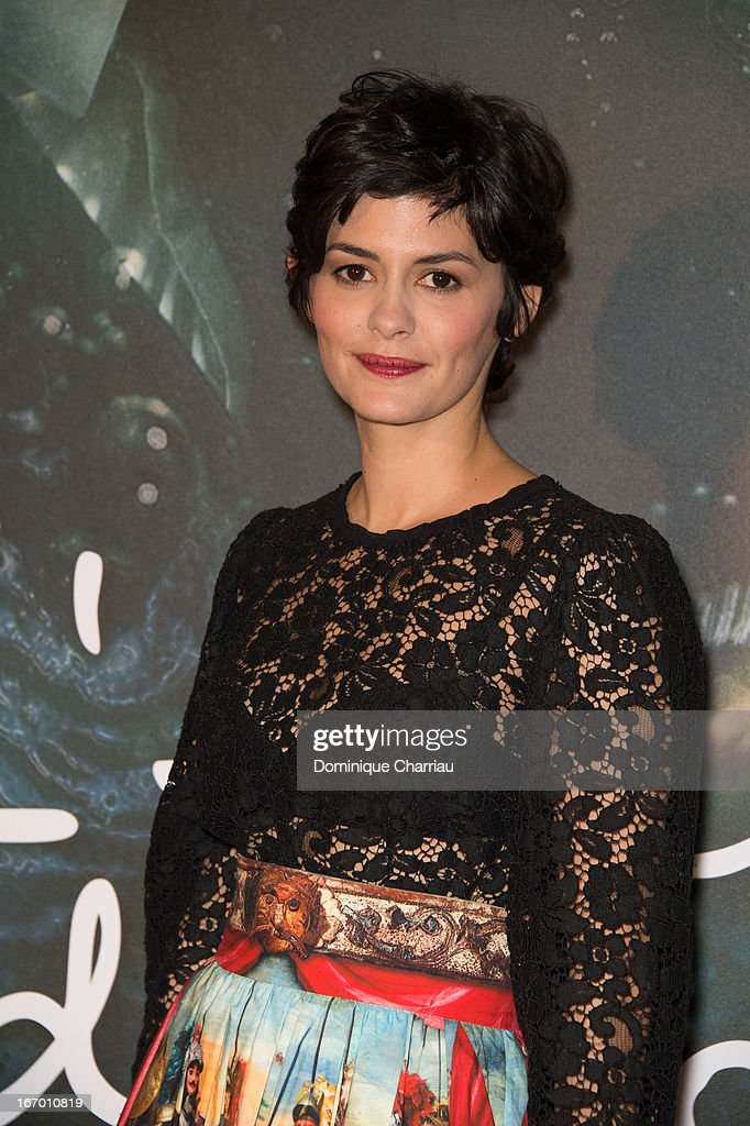 Audrey Tautou attends the 'L'Ecume Des Jours' Paris Premiere at Cinema UGC Normandie on April 19, 2013 in Paris, France.
