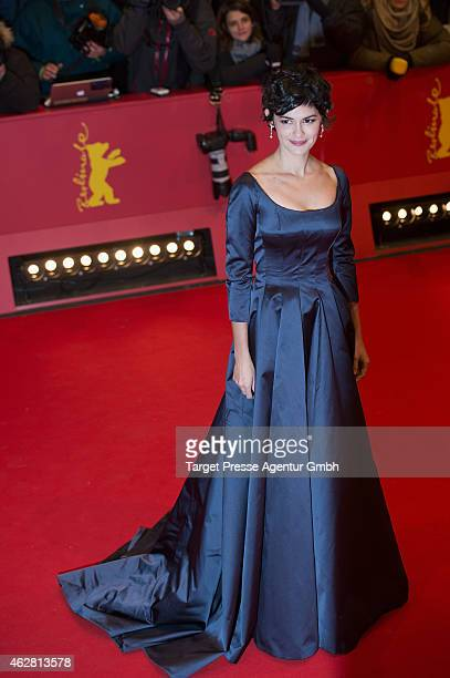 Audrey Tautou attends the 'Nobody Wants the Night' premiere during the 65th Berlinale International Film Festival at Berlinale Palace on February 5...