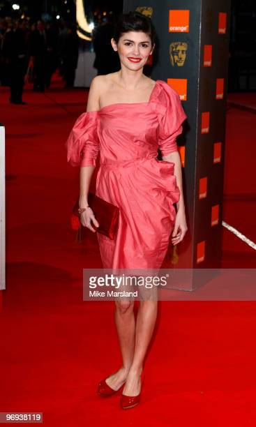 Audrey Tautou attends The Orange British Academy Film Awards 2010 at The Royal Opera House on February 21 2010 in London England