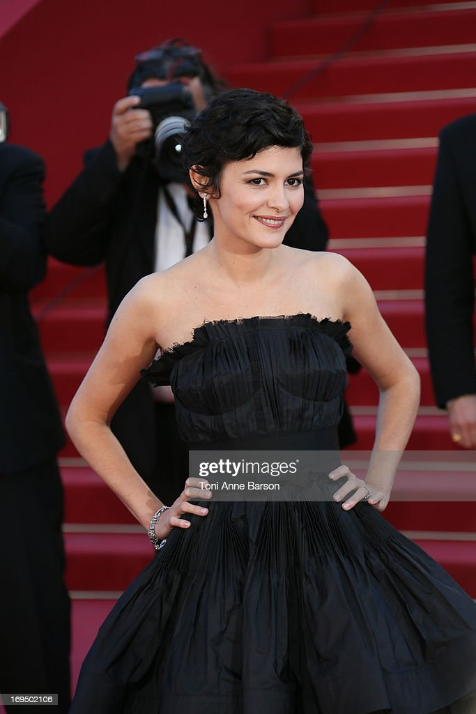 Audrey Tautou attends the Premiere of 'La Venus A La Fourrure' at The 66th Annual Cannes Film Festival on May 25, 2013 in Cannes, France.