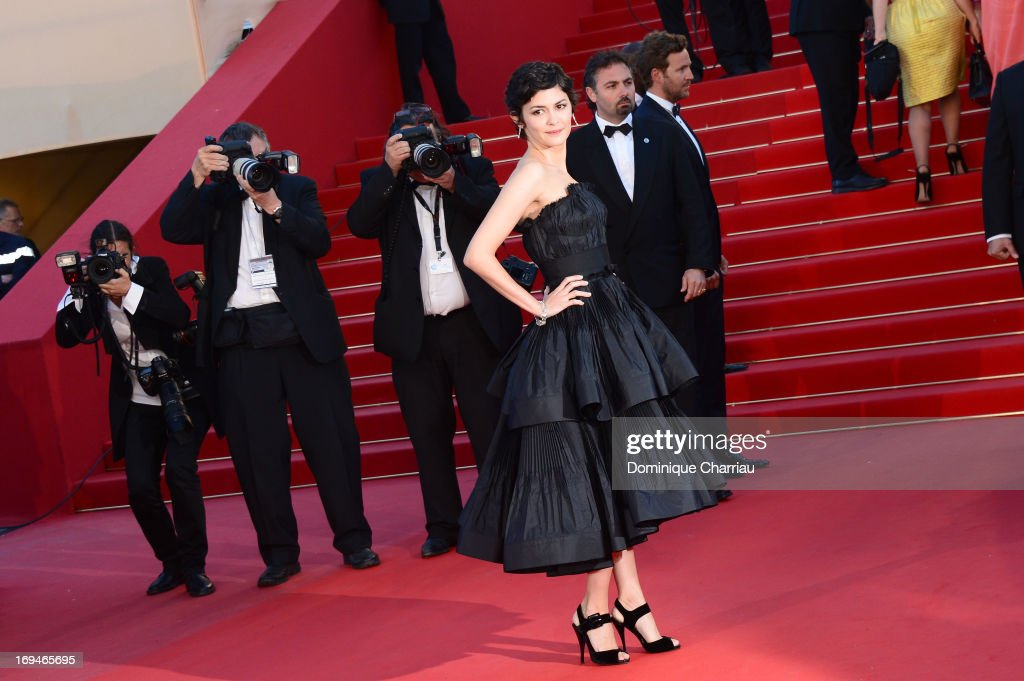 Audrey Tautou attends the Premiere of 'La Venus A La Fourrure' during the 66th Annual Cannes Film Festival at the Palais des Festivals on May 25, 2013 in Cannes, France.