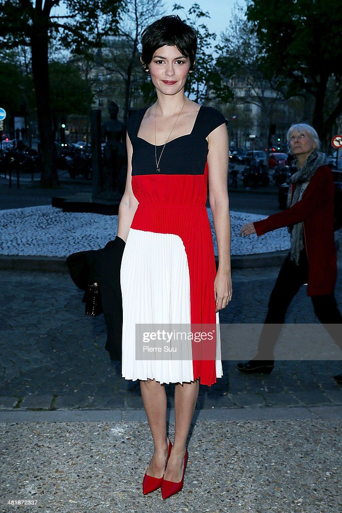 <a gi-track='captionPersonalityLinkClicked' href=/galleries/search?phrase=Audrey+Tautou&family=editorial&specificpeople=212727 ng-click='$event.stopPropagation()'>Audrey Tautou</a> attends the UNITAID Party at the Palais d'iena on April 1, 2014 in Paris, France.