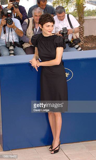 Audrey Tautou during 2006 Cannes Film Festival 'The Da Vinci Code' Photo Call at Palais du Festival in Cannes France
