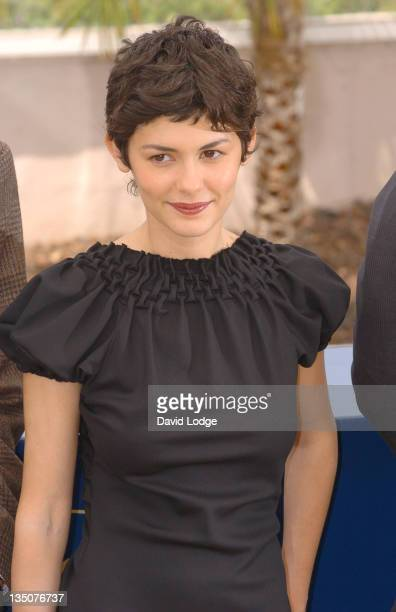 Audrey Tautou during 2006 Cannes Film Festival 'The Da Vinci Code' Photo Call at Palais du Festival in Cannes France