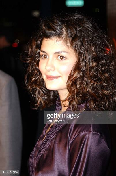 Audrey Tautou during Amelie Premiere Beverly Hills in Beverly Hills California United States