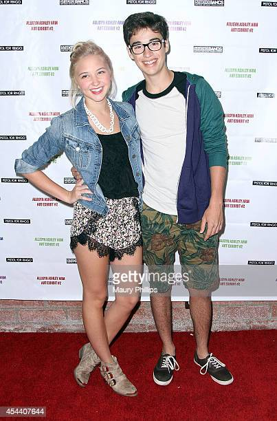Audrey Whitby and Jory Bragg arrive at Allisyn Ashley Arm Art Exhibit on August 30 2014 in Culver City California