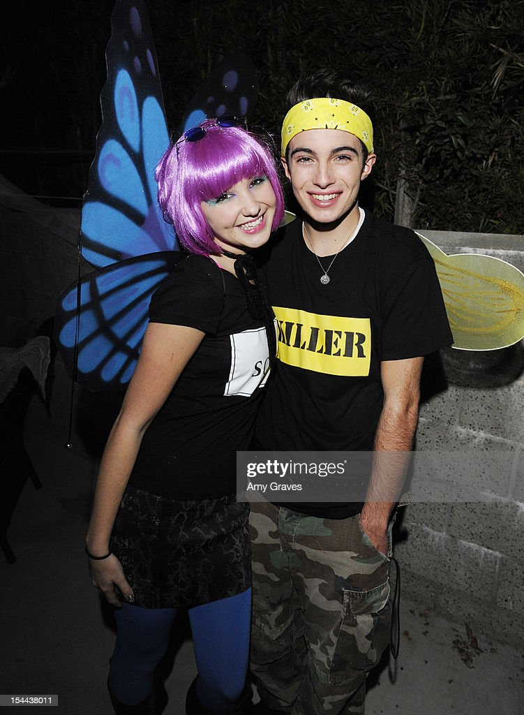 Audrey Whitby and Noland Ammon attend pop singer Temara Melek's UNICEF Party on October 19, 2012 in Los Angeles, California.