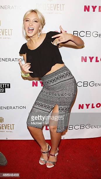 Audrey Whitby arrives at the Nylon Magazine May Young Hollywood Issue Party held at Tropicana Bar at The Hollywood Rooselvelt Hotel on May 8 2014 in...