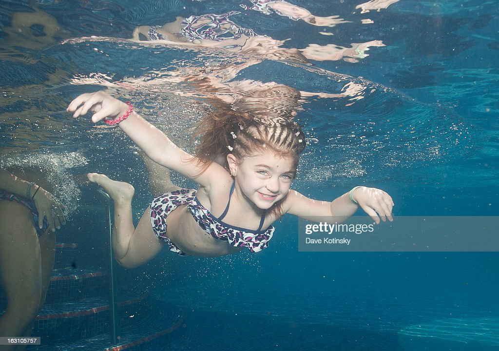 Audriana Giudice goes for a swim at Majestic Resort on March 4, 2013 in Punta Cana, Dominican Republic.
