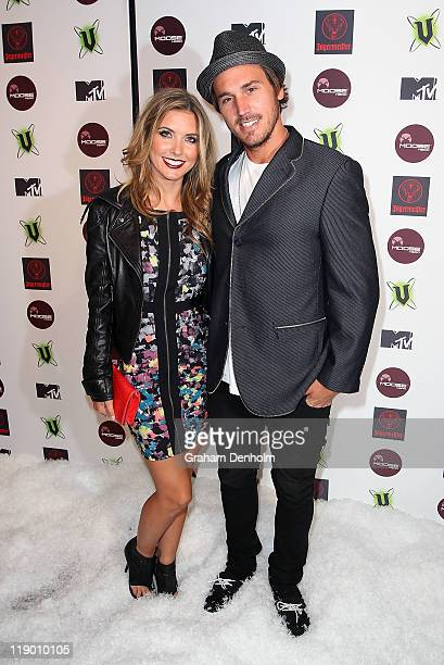 Audrina Patridge and Corey Bohan arrives at the MTV Snow Jam 2011 VIP launch event on July 14 2011 in Melbourne Australia