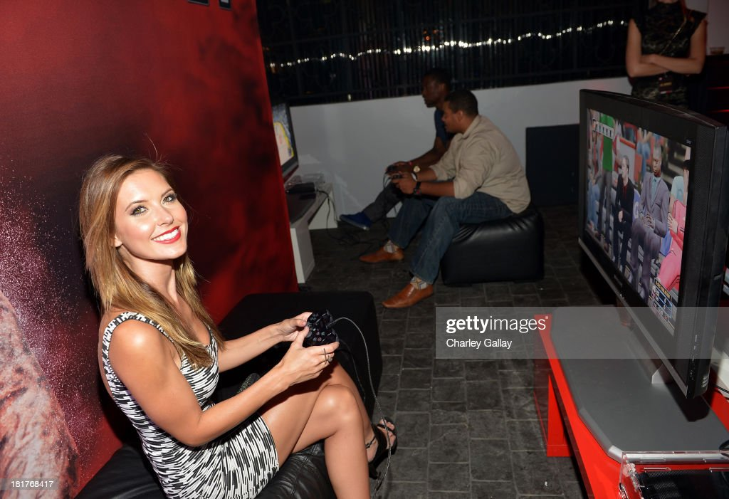 Audrina Patridge attends the NBA 2K14 premiere party at Greystone Manor on September 24, 2013 in West Hollywood, California.