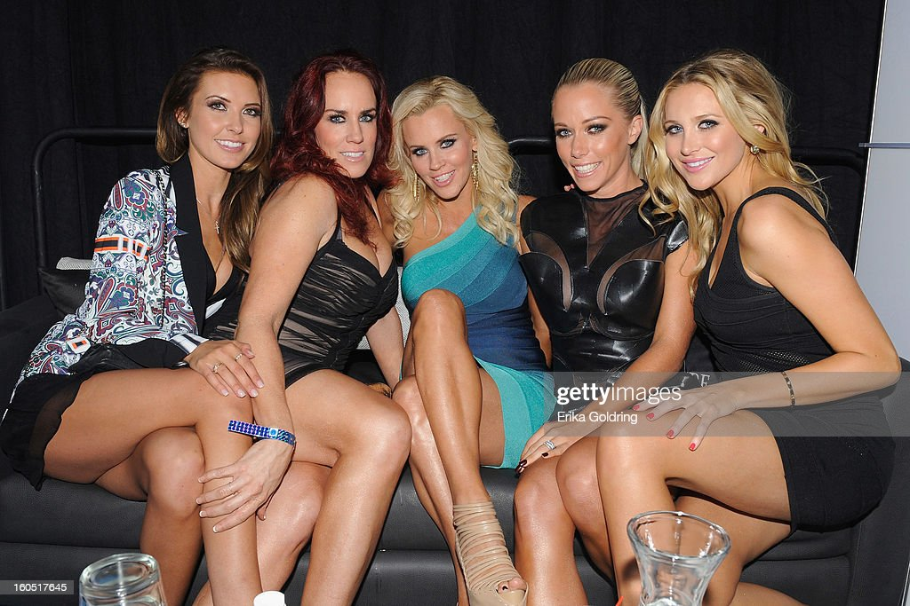 Audrina Patridge, JoJo McCarthy, Jenny McCarthy, Kendra Wilkinson and Stephanie Pratt host the Tenth Annual Leather & Laces Super Bowl Party on February 1, 2013 in New Orleans, Louisiana.