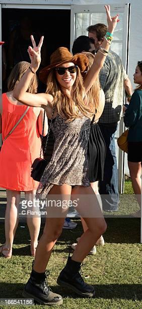 Audrina Patridge poses during Day 2 of the 2013 Coachella Music Festival on April 13 2013 in Indio California