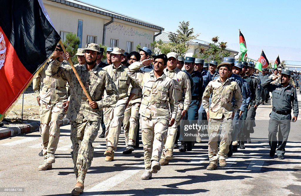 SHARIF Aug 17 2016 Police students march during their graduation ceremony in MazareSharif north of Afghanistan Aug 17 2016 A total of 375 police...