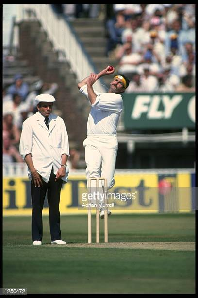 Dennis Lillee bowling for Australia against England in the 4th Test at Edgbaston Mandatory Credit Adrian Murrell/Allsport UK