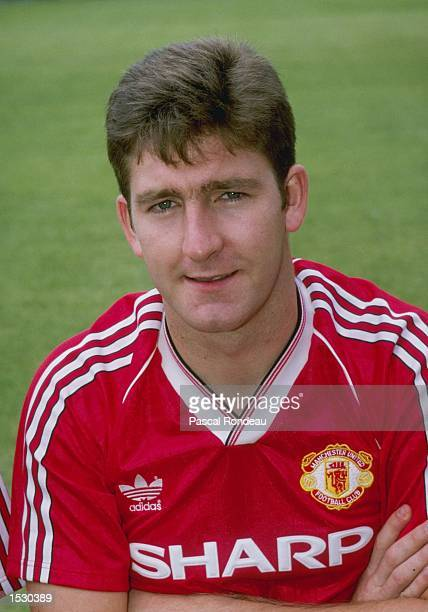 A portrait of Norman Whiteside of Manchester United taken during the club photocall at Old Trafford In Manchester Mandatory Credit Allsport