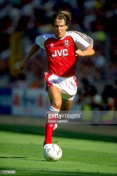 Paul Merson of Arsenal in action during the Charity Shield match against Tottenham Hotspur at Wembley Stadium in London The match ended in a 00 draw...