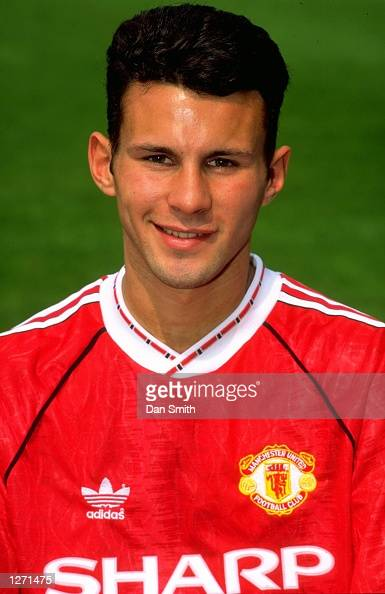 Portrait of Ryan Giggs of Manchester United during a photocall at Old Trafford in Manchester England Mandatory Credit Dan Smith/Allsport