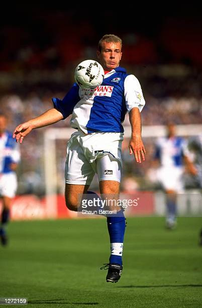 Alan Shearer of Blackburn Rovers in action during the Charity Shield match against Everton at Wembley Stadium in London Everton won the match 10...