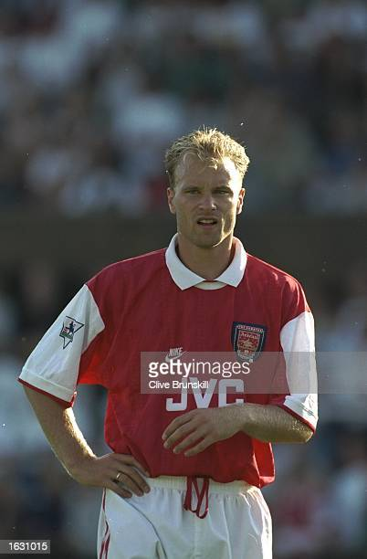 Portrait of Dennis Bergkamp of Arsenal during a match on their tour to Scandanavia Mandatory Credit Clive Brunskill/Allsport