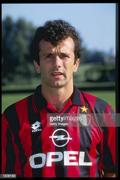 A portrait of Dejan Savicevic of AC Milan taken during the club photocall Mandatory Credit Allsport UK